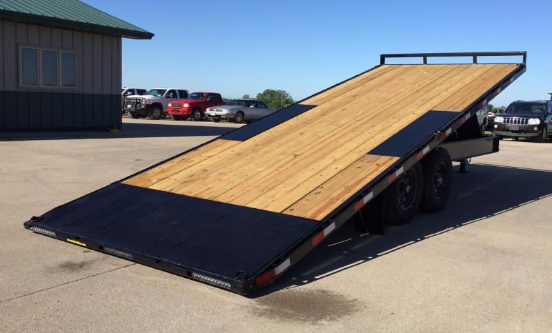2021 H&H 22' Power Tilt Deck-Over Equipment Trailer