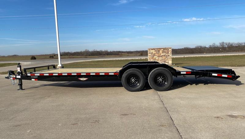 2021 H and H Trailer 22' Full Width Equipment Trailer