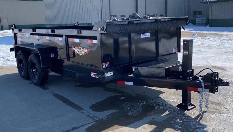 2021 H and H Trailer 14' Industrial Dump Dump Trailer