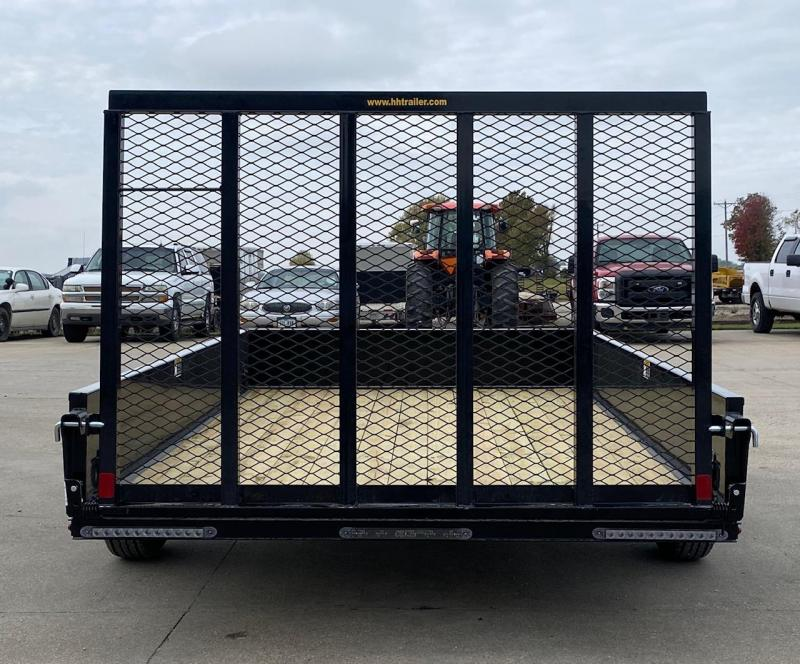 "2021 H and H Trailer 76""x10' Solid Side Utility Trailer"