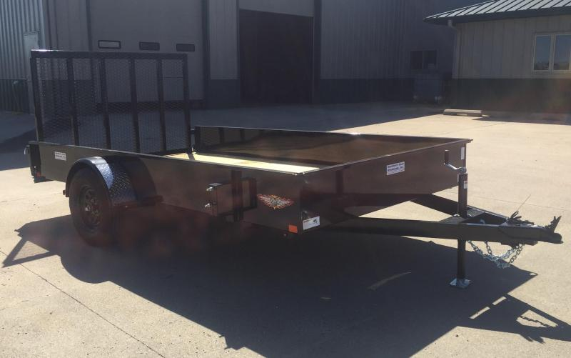"""2021 H & H Trailer 82"""" x 12' Solid Side Utility Trailer"""