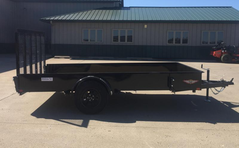 "2021 H & H Trailer 82"" x 12' Solid Side Utility Trailer"