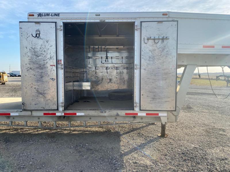 2014 Alum-Line Trailers 1/2 Enclosed 1/2 Equipment Trailer