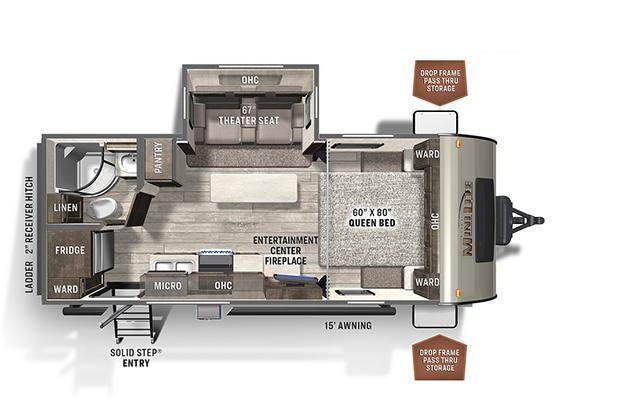 2022 Forest River Rockwood Mini Lite 2205S Travel Trailer RV