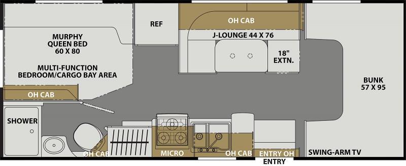 2021 Coachmen Freelander 22XG - Ford F350 Class C RV
