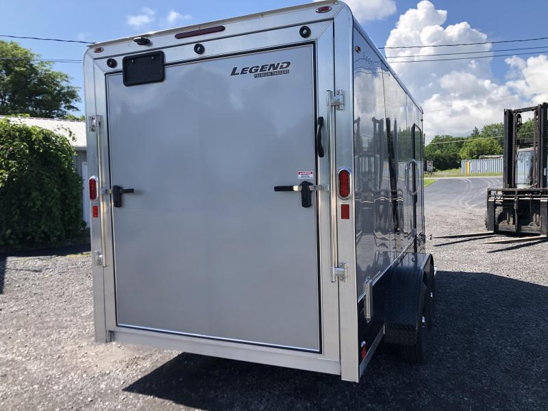 2021 Legend DVN Deluxe 7 X 17 Enclosed Cargo Trailer with 110v 7 ft Height