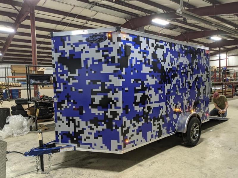 2021 Trailer TM712-Camo Cargo / Enclosed Trailer