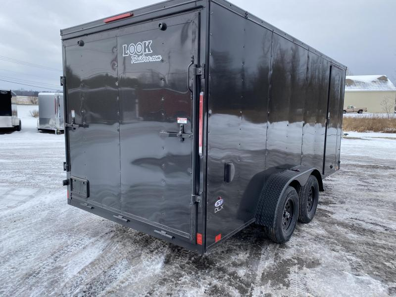 2021 Look Trailers 714DLX Blackout cargo trailer