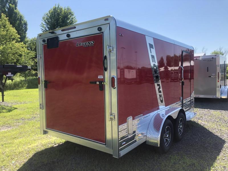 2021 Legend DVN Deluxe 7 X 17 Enclosed Cargo Trailewith 110v