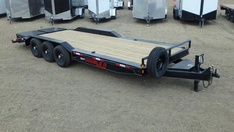 "2020 Double A 102"" x 26 Tri axle Equipment Trailer (21000lb GVWR)"