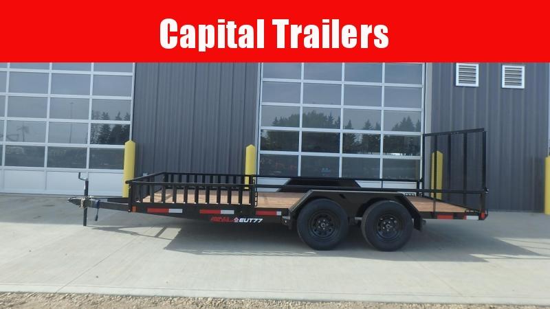 "2021 Double A Utility Trailer 83"" x 16' (7000LB GVW)"