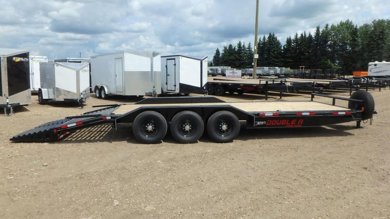 "2021 Double A 102"" x 26 Tri axle Equipment Trailer (21000lb GVWR)"