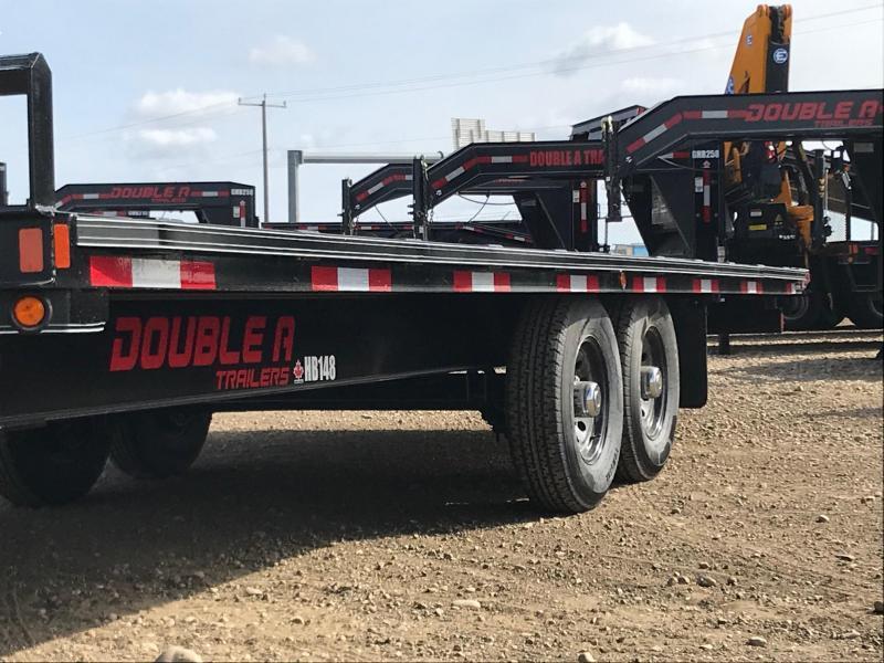 2021 Double A 24' Hydraulic Full Tilt Highboy Equipment Trailer w/ Winch (14000lb GVWR)