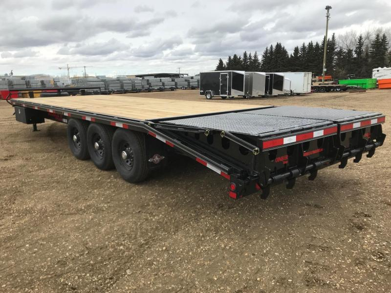 "2021 Double A 102"" x 24 Tri axle Deckover Equipment Trailer (21000lb GVWR)"