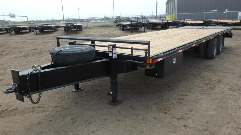 """2021 Double A Trailers 102"""" x 28FT Highboy Pintle (22000LB GVW) Equipment Trailer"""