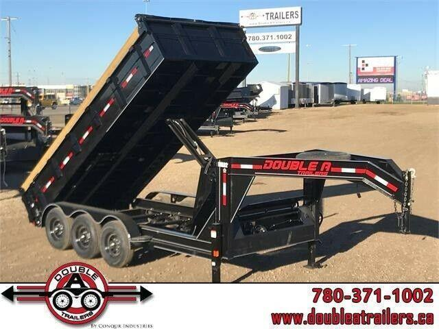 "2021 Double A, 83"" x 16FT Gooseneck Tri Axle Dump Trailer (21,000LB GVW)"