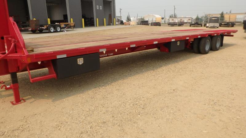 """2021 Double A Trailers 102"""" x 36FT Engineered Mainframe W/ Hydraulic Dovetail"""