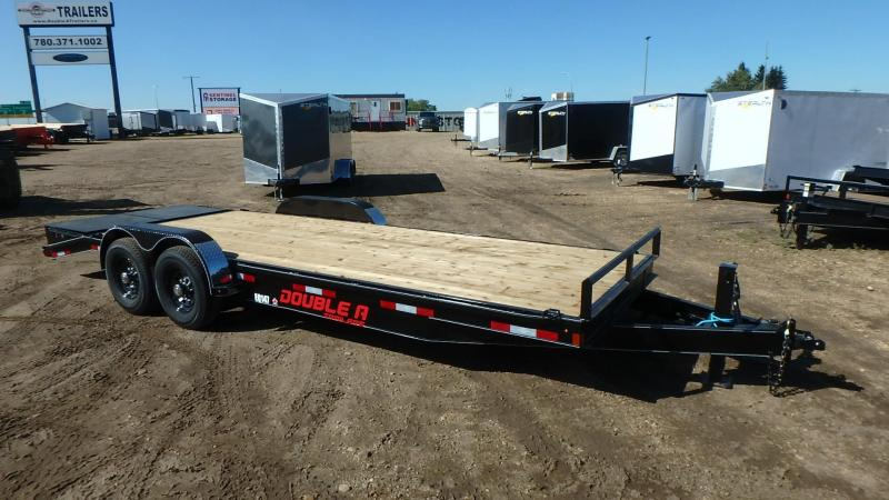 "2019 Double A 83"" x 22' Pro Series Equipment Trailer (14000lb GVWR) w/ Stand-Up Ramps"