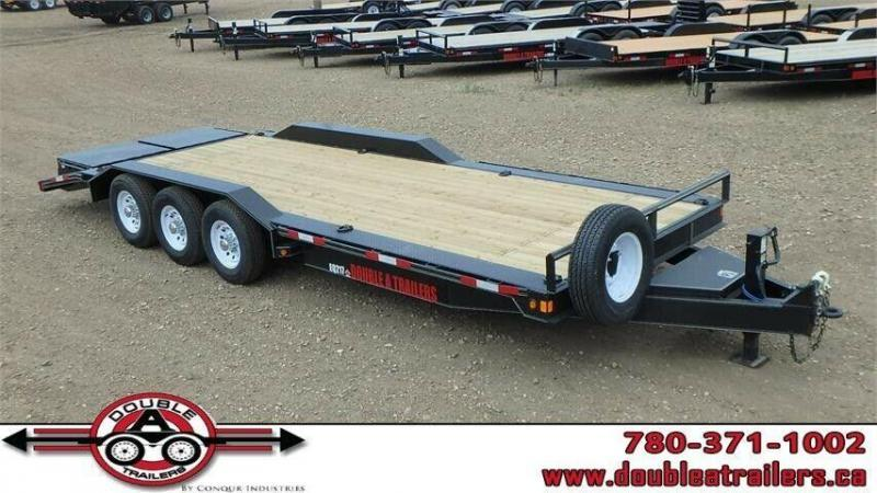 "2019 Double A 102"" x 24 Triaxle Equipment Trailer (21000lb GVWR)"