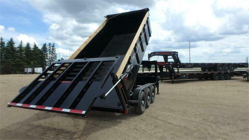 2020 Double A 16' Gooseneck Tri axle Dump Trailer w/ Hydraulic Gate (21000lb GVWR)
