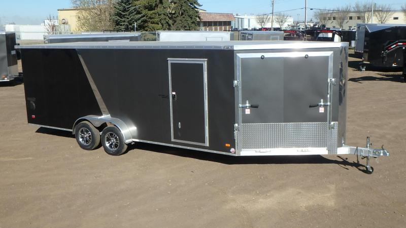 2021 Bravo Trailers 7FT x 20FT + 5FT Drive Off Aluminum Sled/Cargo Snowmobile Trailer