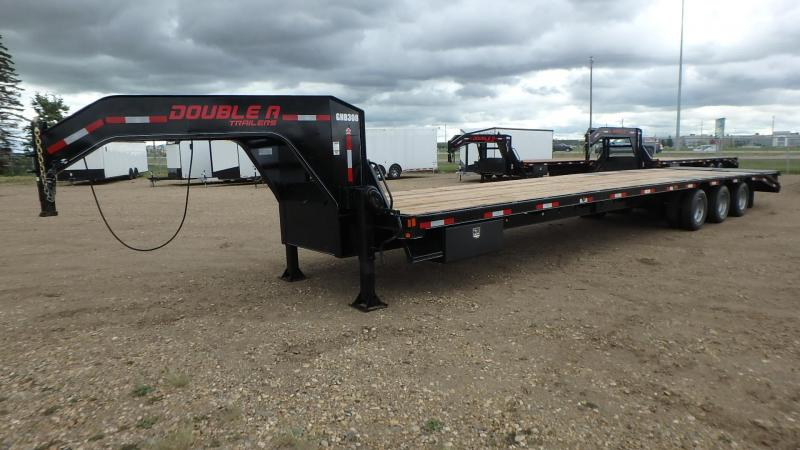 "2020 Double A Trailers 102"" x 40FT Gooseneck Trailer (30000LB GVW) Flatbed Trailer"
