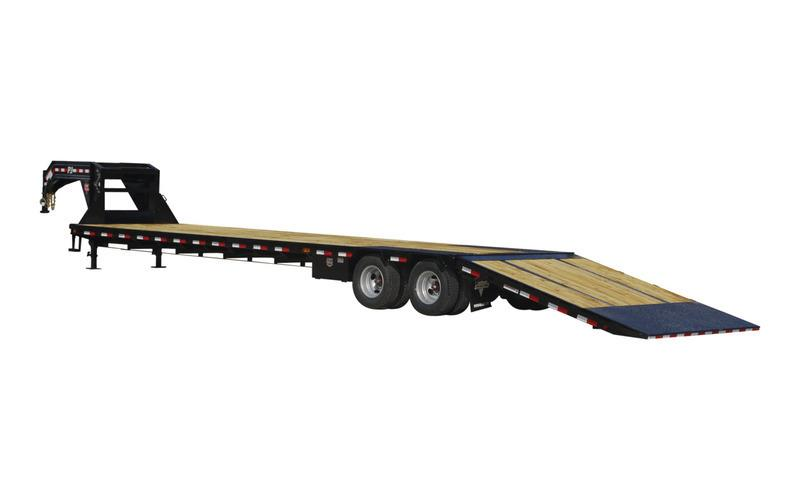 """2022 PJ Trailers 102"""" x 30' Low-Pro With Hydraulic Dove (LY) Flatbed Trailer"""