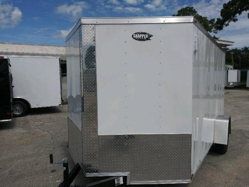 Cargo Trailer  7 ft.x12 White EXT. NEW for SALE!,