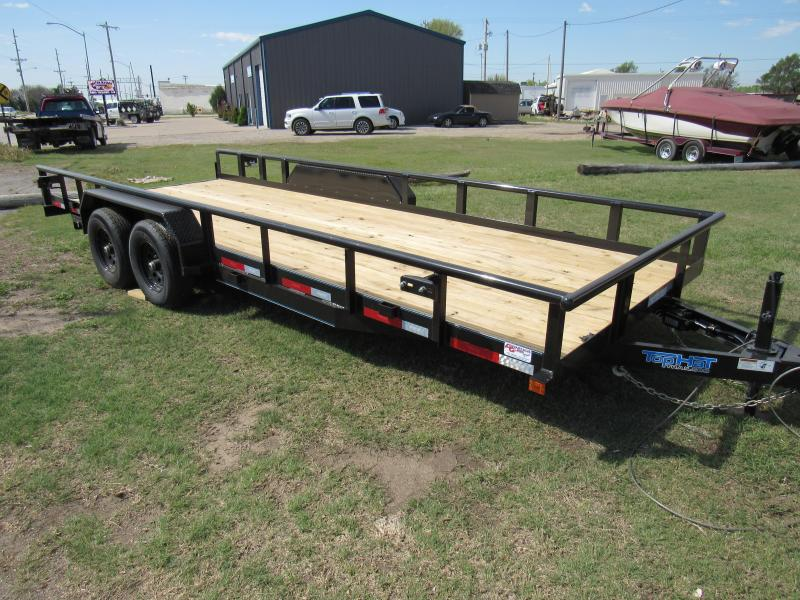"2021 Top Hat Trailers 83"" X 20' Heavy Pipe 10K Equipment Trailer"
