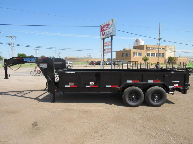 "2021 Top Hat Trailers Lo Pro Gooseneck 83"" X 16' Dump Trailer"