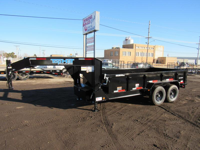 "2021 Top Hat Trailers 83"" X 14' Gooseneck Lo Pro Dump Trailer"