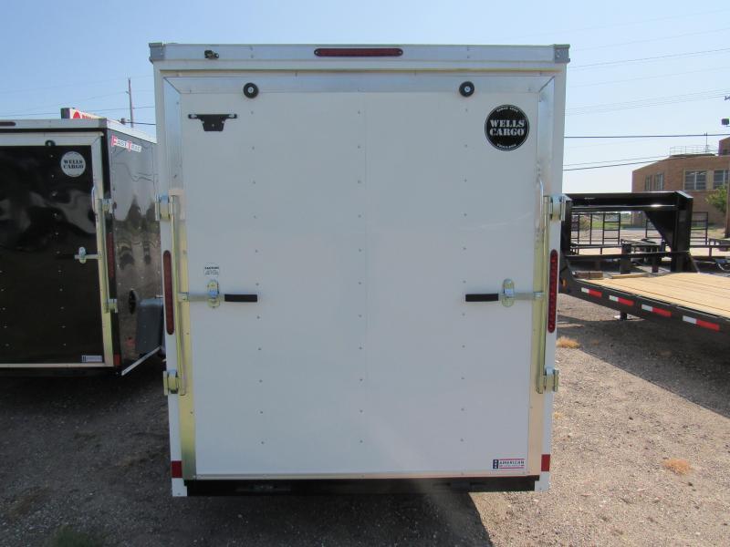 2021 Wells Cargo 6 X 12 V-Nose FT612S2-D Enclosed Cargo Trailer