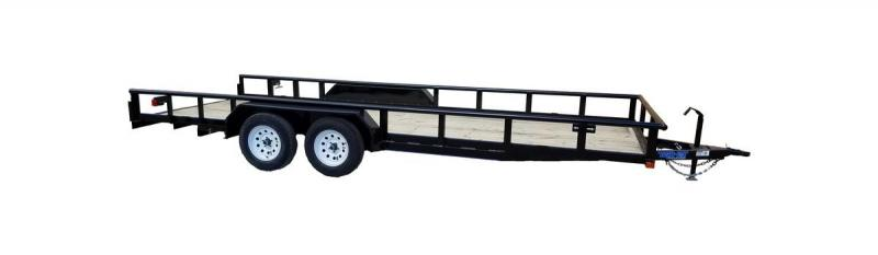 "2021 Top Hat Trailers 83"" X 20' XL Pipe Tandem Axle Utility Trailer"
