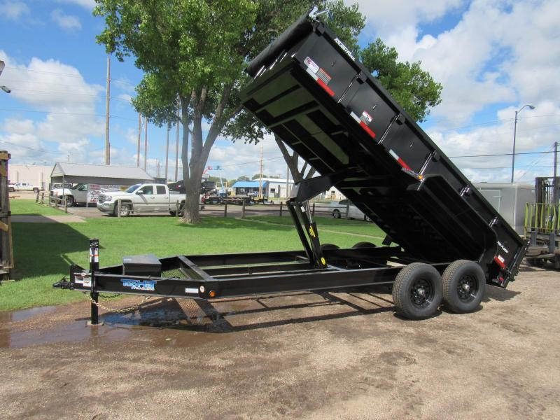 "2021 Top Hat Trailers 83"" X 16' Lo Pro Dump Trailer"