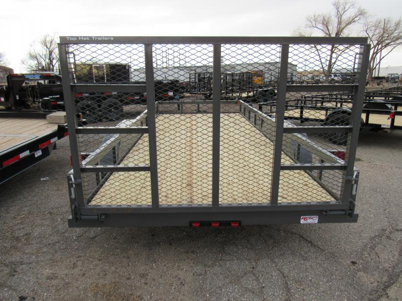"2021 Top Hat Trailers 83"" X 18' Econo Angle Tandem Axle Utility Trailer"