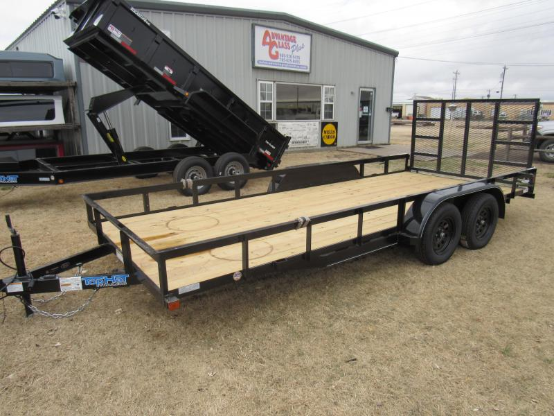 "2020 Top Hat Trailers 83"" X 16' Econo Angle Tandem Axle Utility Trailer"