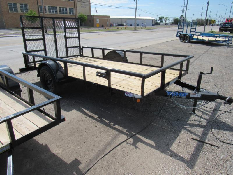 "2021 Top Hat Trailers 77"" X 12' Derby Sr. Pipe Utility Trailer"