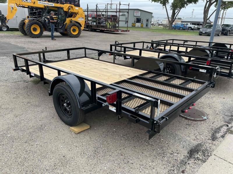 """2022 Top Hat Trailers Derby Sr. Angle 77"""" X 12' Utility Trailer"""