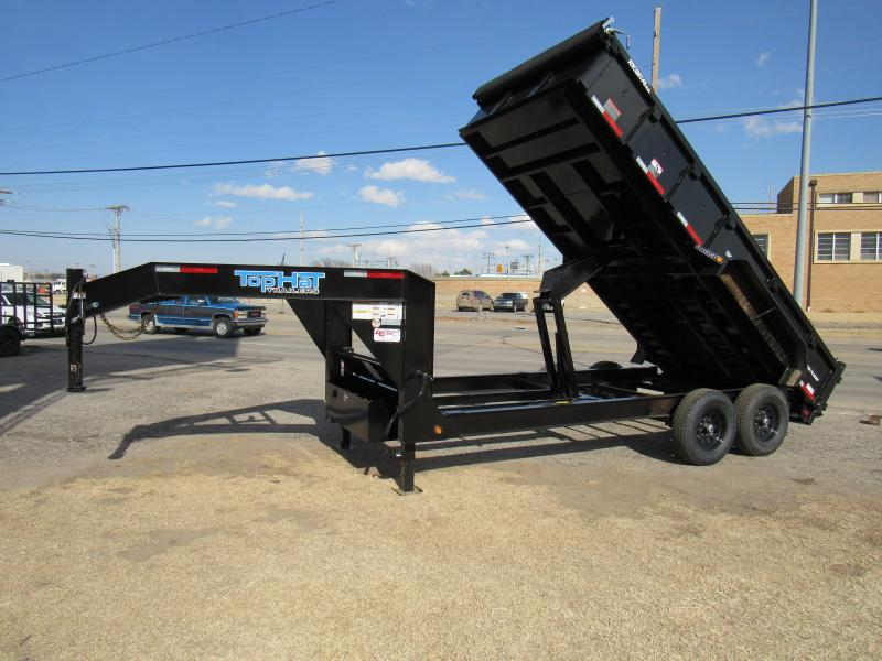 "2021 Top Hat Trailers 83"" X 14' Lo Pro Gooseneck Dump Trailer"