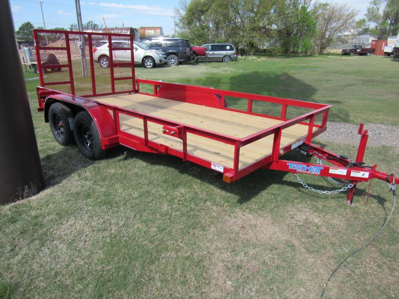 "2021 Top Hat Trailers 83"" X 14' Econo Angle Tandem Axle Utility Trailer"