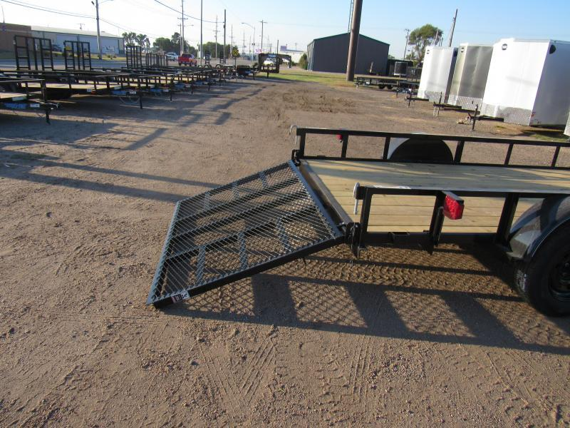 "2021 Top Hat Trailers 77"" X 12' Derby Sr. Angle (DSA) Utility Trailer"
