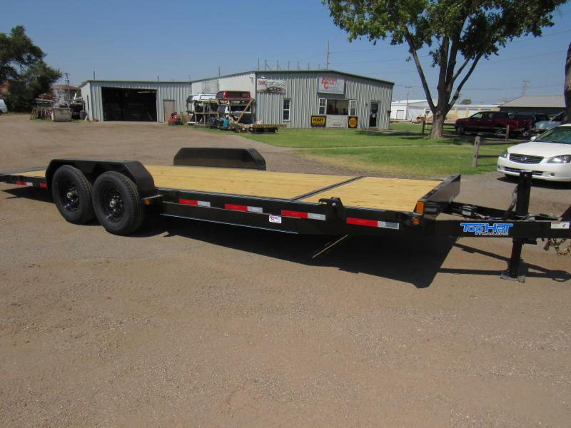 "2021 Top Hat Trailers 83"" X 24' Tilt Deck Shock Equipment Trailer"