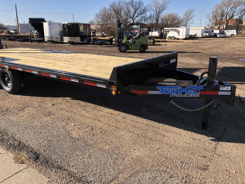 "2021 Top Hat Trailers 96"" X 22' Deckover Equipment Trailer"