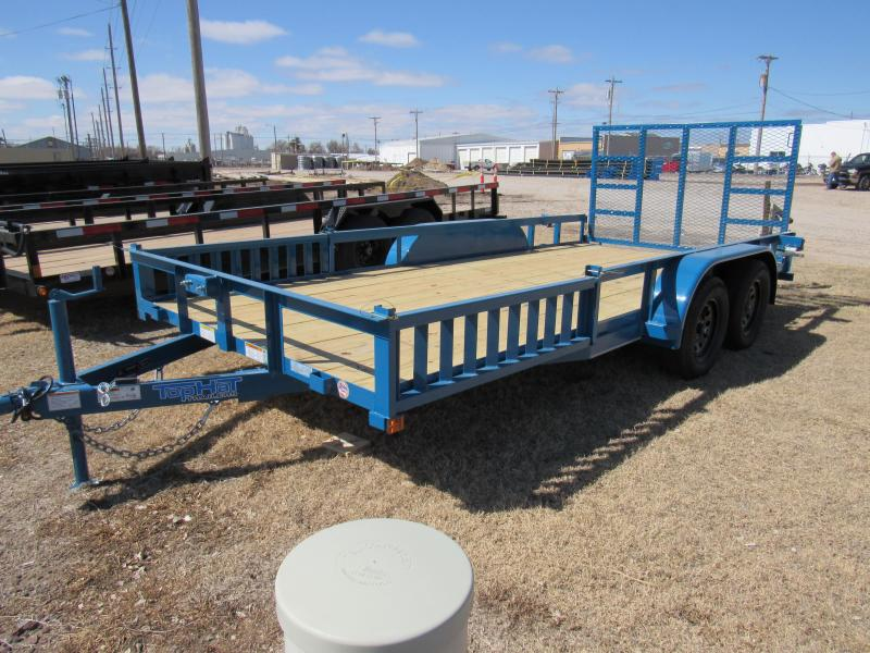 "2021 Top Hat Trailers 83"" X 16' Econo Angle Tandem Axle Utility Trailer"
