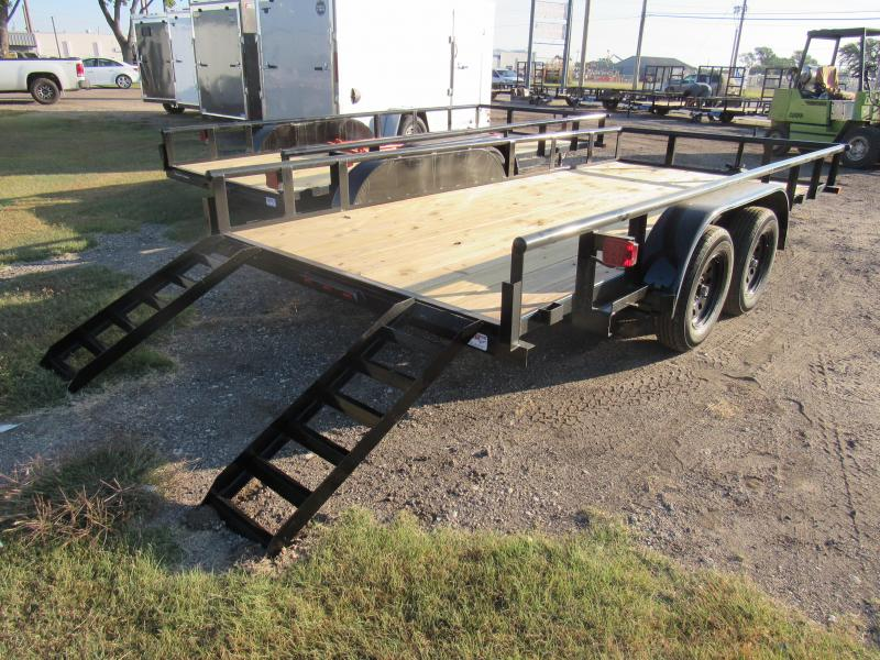 "2021 Top Hat Trailers 83"" X 16' Tandem Axle Utility Trailer"
