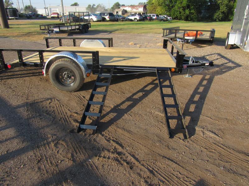 "2021 PJ Trailers 77"" X 14' (U7141) ATV RAMPS Utility Trailer"