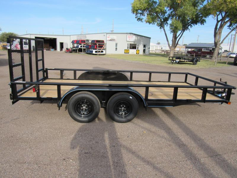 """2022 Top Hat Trailers 83"""" X 16' Tandem Axle Utility Trailer"""