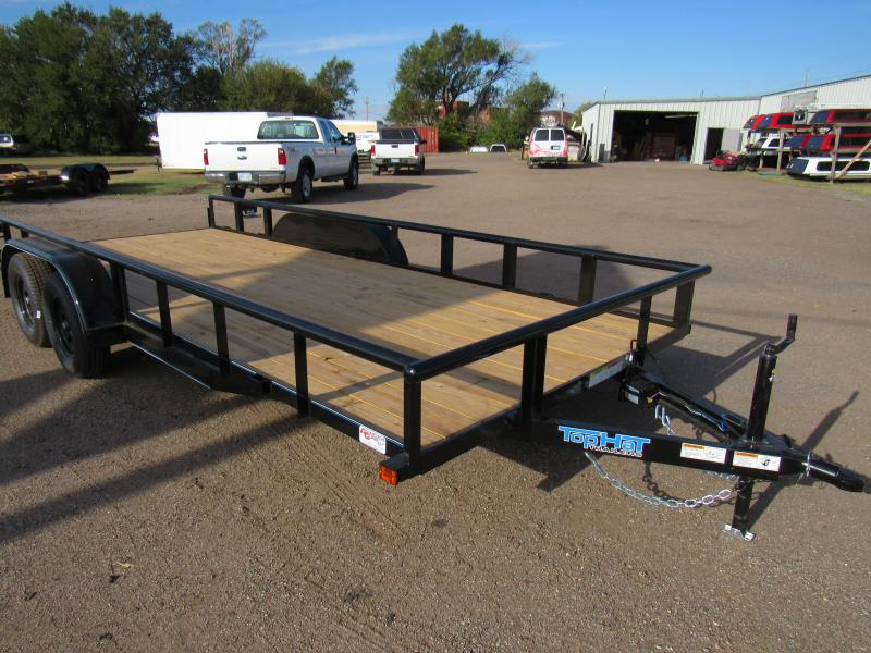 """2022 Top Hat Trailers 83"""" X 18' Tandem Axle Utility Trailer"""