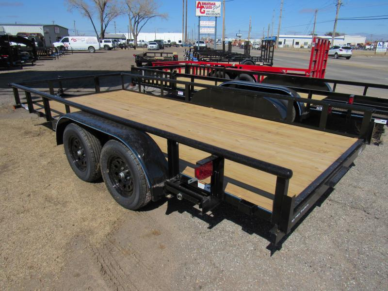 "2021 Top Hat Trailers 83"" X 16' Medium Pipe Utility Trailer"