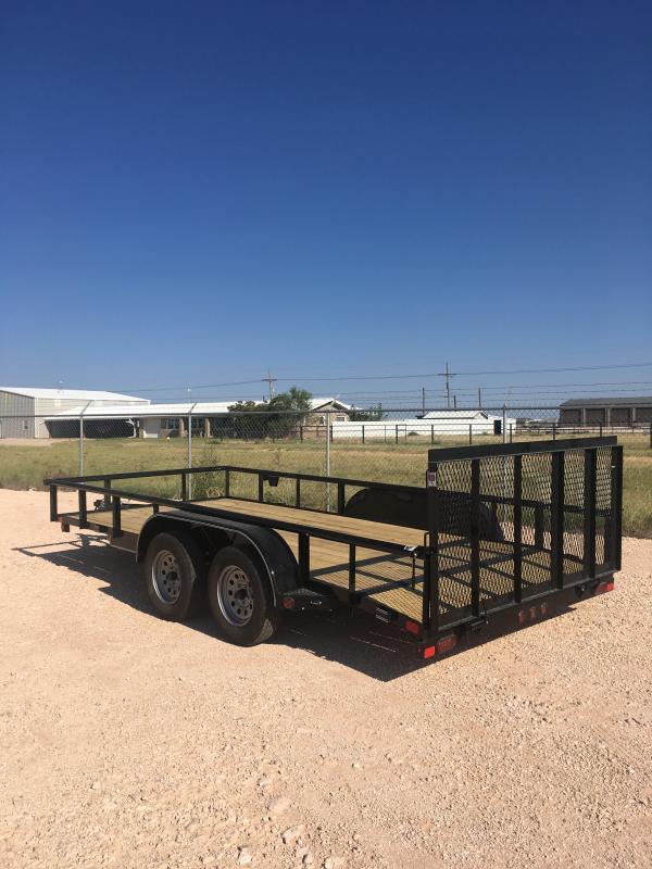 "2022 East Texas UT8316032 83""X16' Utility Trailer"